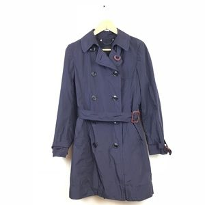 Max Mara Weekend Trench Coat Jacket Purple 4